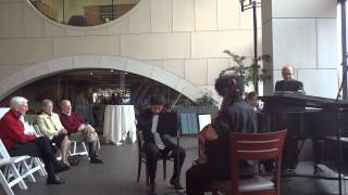 Performance at Max Rochester: Beethoven Piano Trio in C Minor, Op. 1, No. 3
