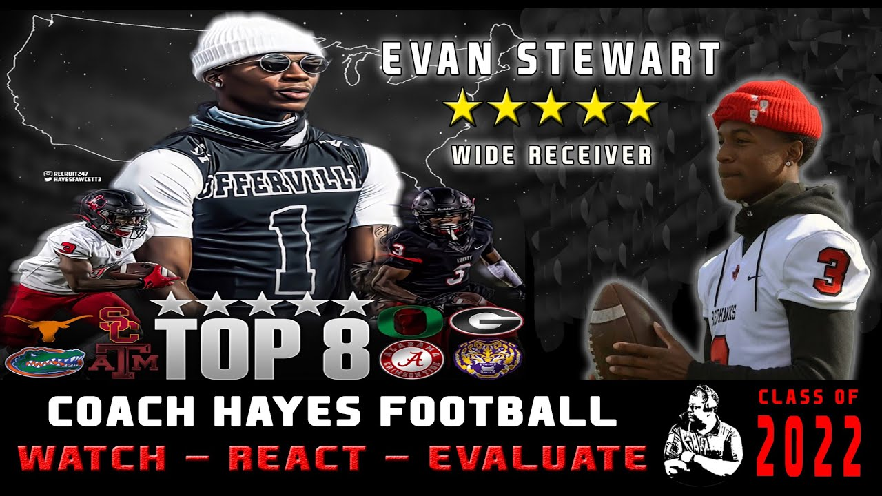 5⭐ WR - Evan Stewart Highlights | One of the deadliest WR's on the field (WRE)