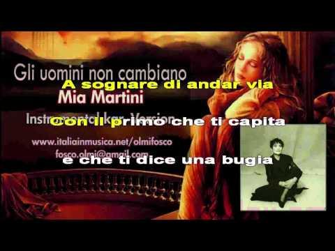 Gli uomini non cambiano - Mia Martini - instrumental karaoke HD
