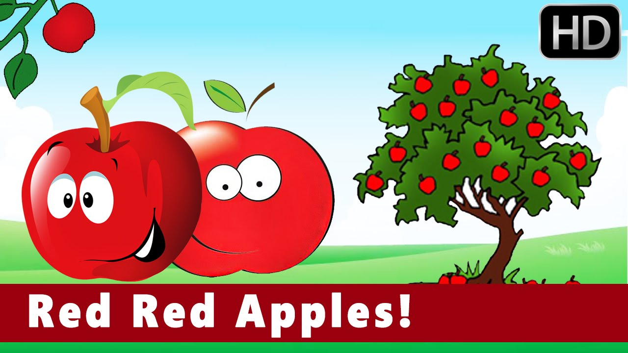 Red Red Apples! | Colours | Educational | Nursery Animation Kids ...
