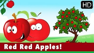 Red Red Apples! | Colours | Educational | Nursery Animation Kids Songs