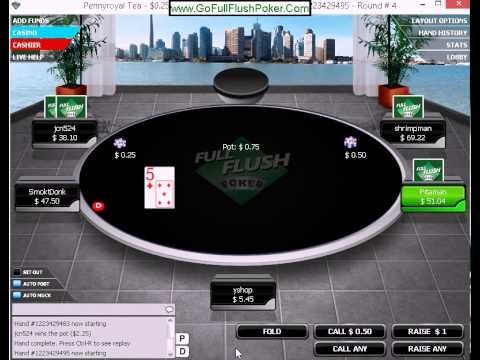 No limit Texas Hold em Poker Online part 6 real money
