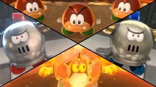 Super Mario 3D World - All Enemy Blockades (2 Player)