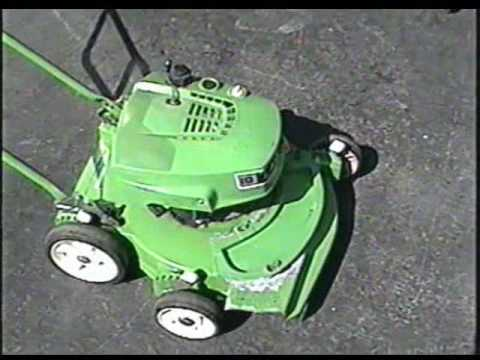 Lawnboy 2 Cycle Lawnmower Start Up