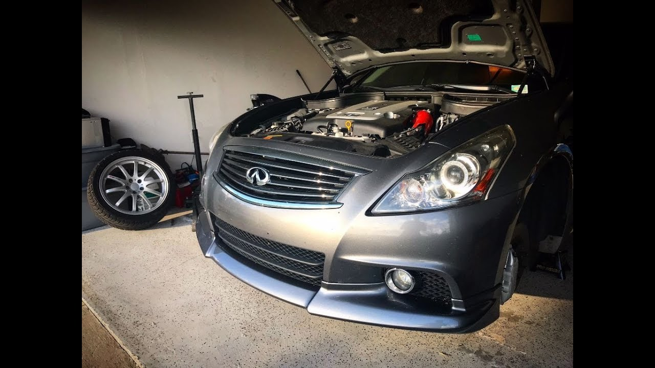 Repeat Infiniti G37 Swift Lowering Springs Installed! by