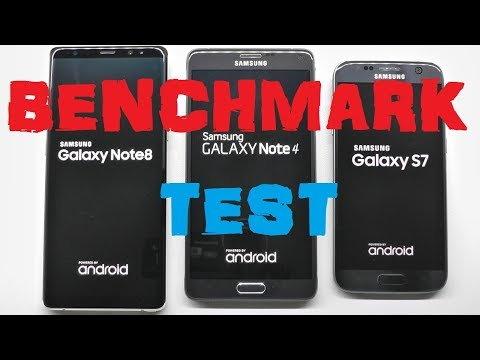 Samsung Galaxy Note 8 vs Note 4 vs S7 benchmark test