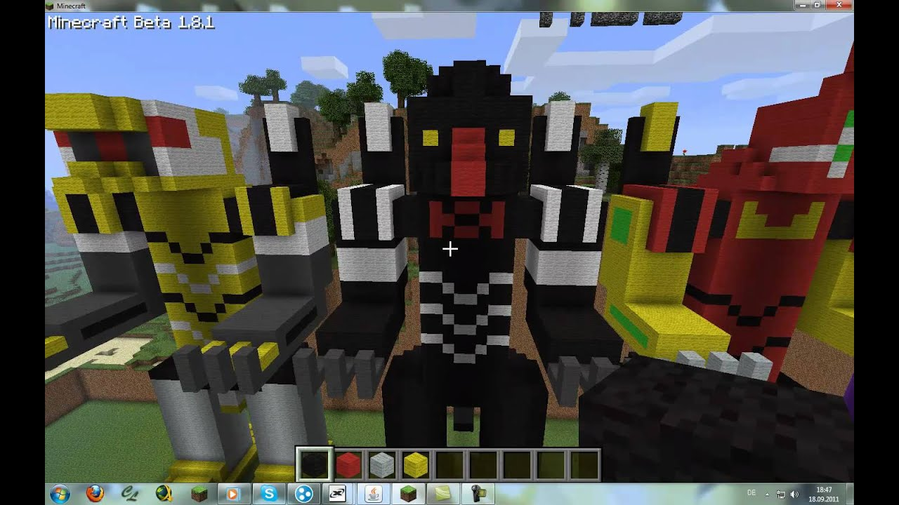 Neon Genesis Evangelion Units In Minecraft Youtube