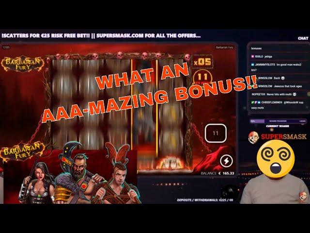 Barbarian Fury!! MONSTER Win *Bonus Buy*!