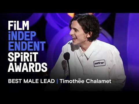 TIMOTHÉE CHALAMET wins Best Male Lead at the 2018 Film Independent Spirit Awards streaming vf