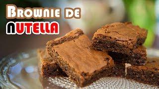 El Mas Rico Brownie de Nutella Sin Gluten Ni Mantequilla