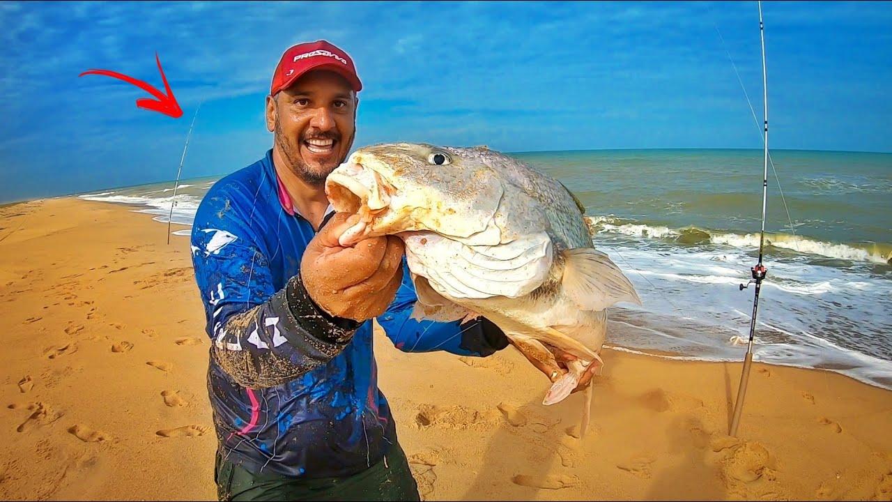 VOCÊ JÁ VIU DESSE TAMANHO??? EU NUNCA NA VIDA!!! Pesca de Praia.