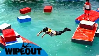 Great Leap of Faith 🦅   Total Wipeout   Clip Compilation