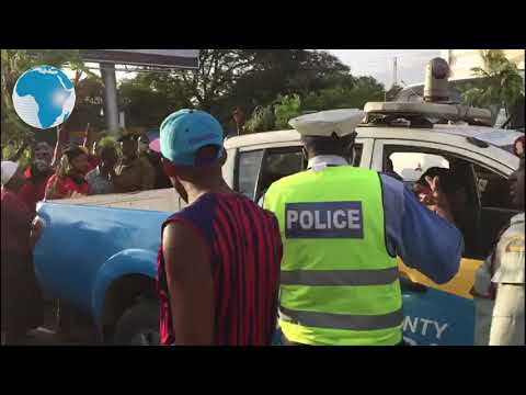 Wholesale traders and retailers clash with police in Mombasa