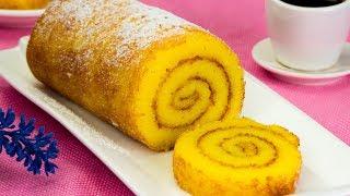 Бисквит без муки! Португальский апельсиновый рулет - самый удачный рецепт! | Appetitno.TV