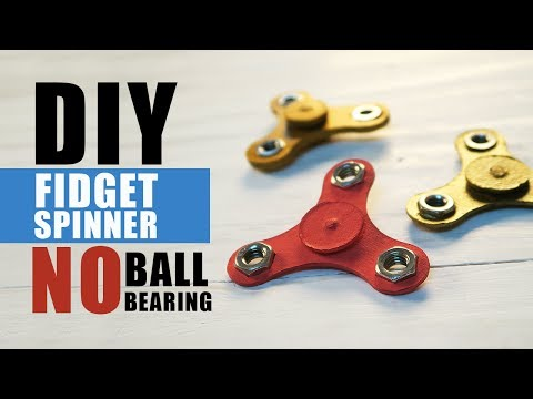 How to make a DIY Fidget Spinner Without Ball Bearings