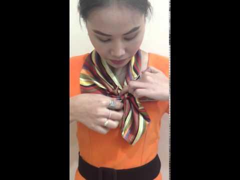 วิธีการผูกผ้าพันคอสำเร็จรูป โบว์สำหรับพนักงาน นักเรียน หน่วยงาน