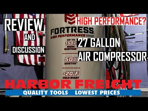 Fortress 27 Gallon Air Compressor Review: Harbor Freight Tools (Specs and Info)