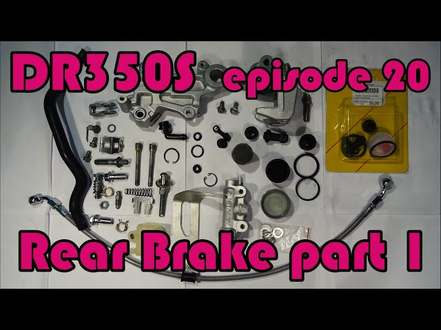 🔧 DR350S Rebuild - ep.20 Rear brake rebuild: disassembly of brake caliper and master cylinder