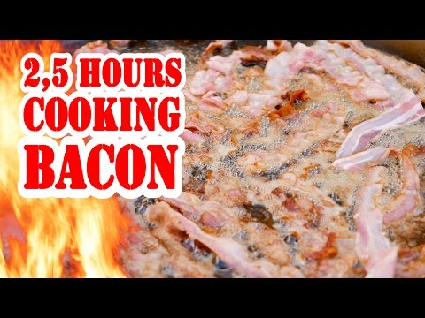 2,5 hours cooking Bacon - Entspannungsvideo - ASMR Video - Die Grillshow Special