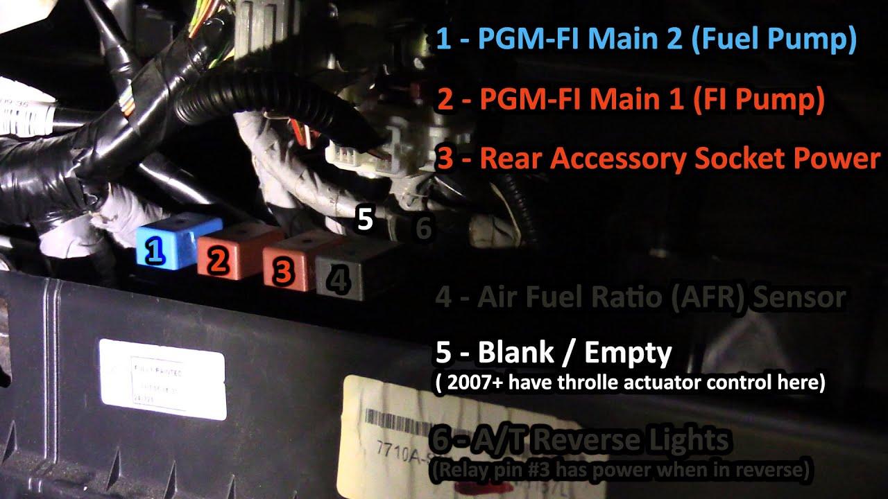 0506 Honda CRV AT Glove Box Relays  YouTube