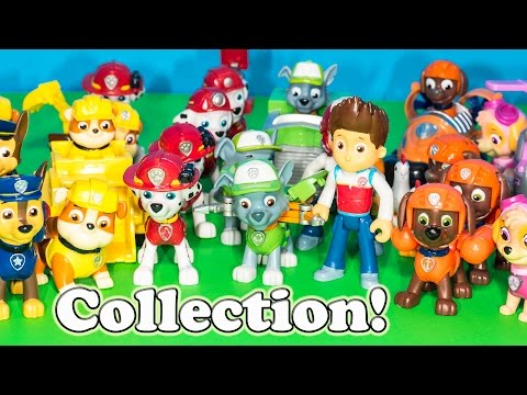 PAW PATROL Nickelodeon Engineering Family Entire Paw Patrol Toys Collection Video