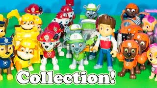 PAW PATROL Nickelodeon Paw Patrol The Engineering Family Entire Paw Patrol Toy Collection Video