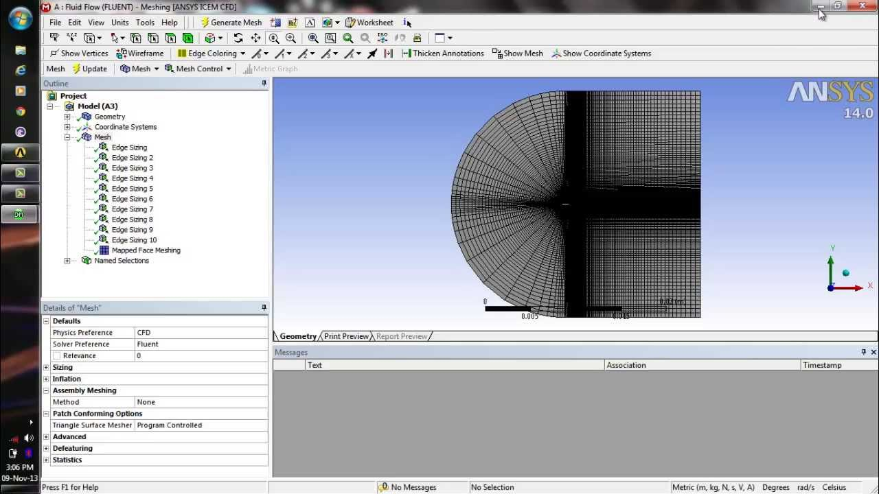 Ansys fluent tutorial simulation of airfoil from naca cordinates.