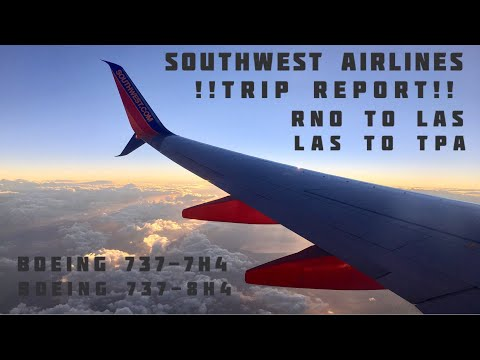 Flying from Reno to Tampa with Southwest Airlines (HD)