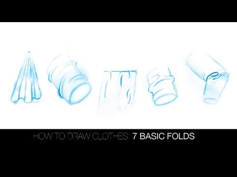how to draw folds and drapery:the 7 basic folds
