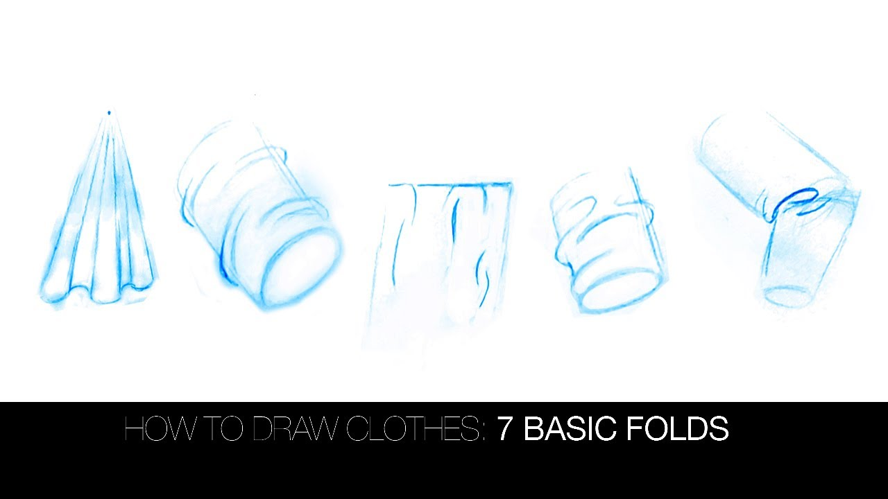 how to draw skirt folds