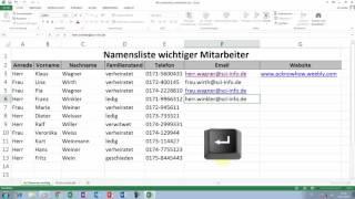 Excel Tipps und Tricks #40 Hyperlink automatisch einfügen und bearbeiten