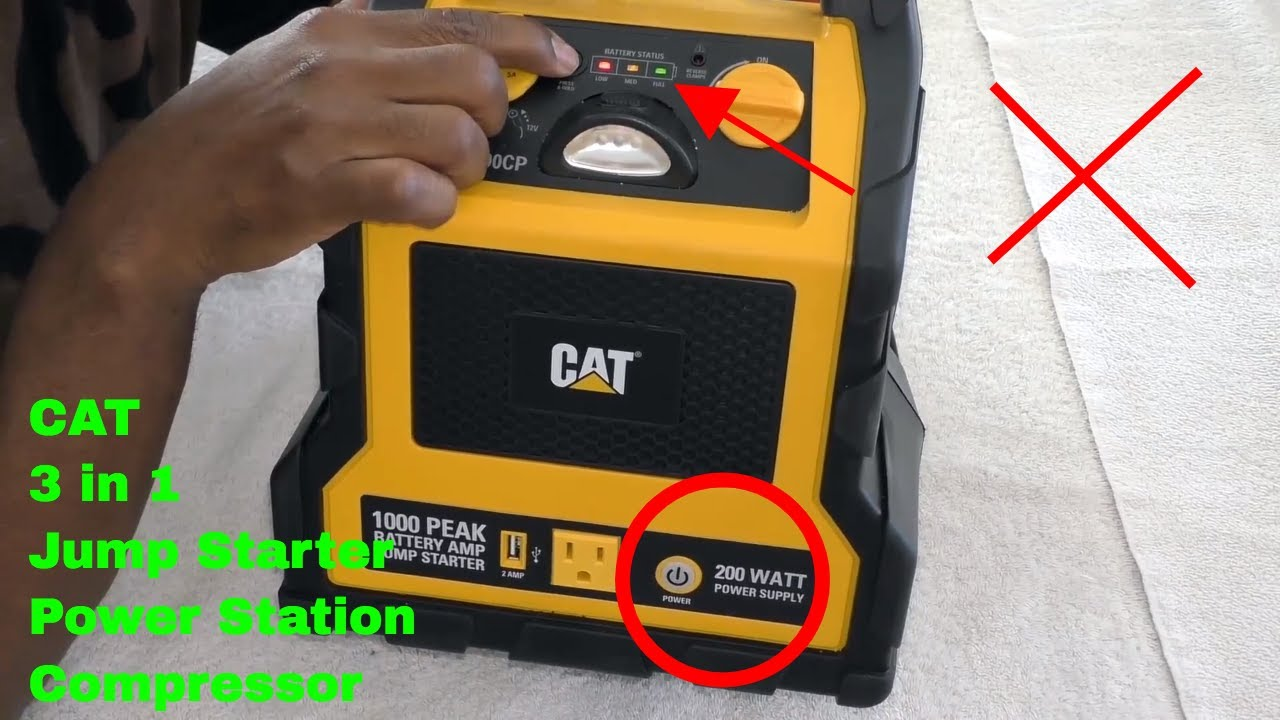 How To Use Cat Professional Jump Starter Compressor Cj1000cp