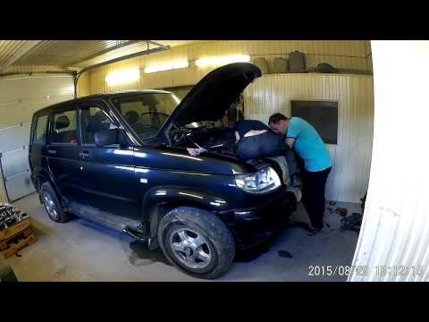 УАЗ Патриот Экспресс замена помпы ( UAZ Patriot )