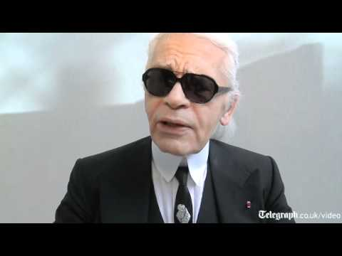 Karl Lagerfeld Interview Before The Chanel Show In Paris