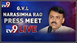 BJP leader GVL Narasimha Rao Press Meet    LIVE   - TV9