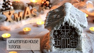 HOW TO MAKE GINGERBREAD HOUSE FROM SCRATCH TUTORIAL | INTHEKITCHENWITHELISA
