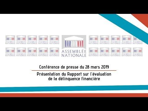 Conférence de presse FI - Remise du rapport sur la Délinquance financière