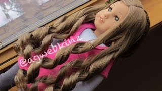 How to curl your american girl dolls hair!