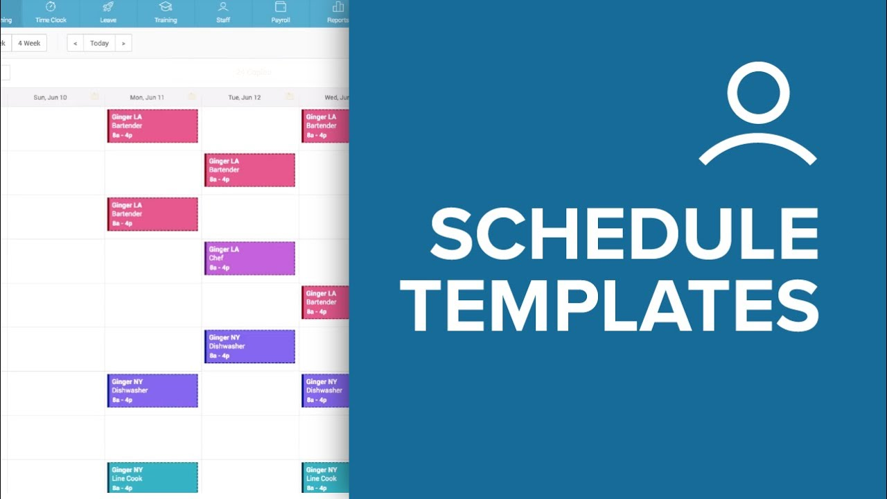 how to save and reuse schedule templates using humanity s employee