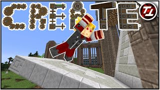 Запуск фабричной двери - Minecraft Create Mod