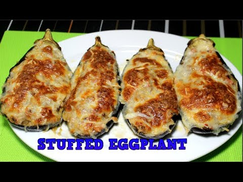 Stuffed Eggplant with Baked Meat