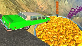 Beamng drive - Open Bridge Crashes over Mac and Cheese