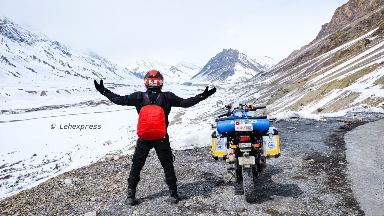 kaza to Kibber | Chicham Bridge | Winter Spiti 2020 | Royal Enfield Himalayan | Leh Express
