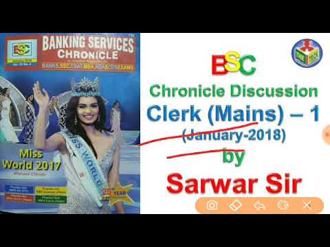 BSC chronicle discussion of Jan-2018 Clerk Mains -1 by Sarwar Sir