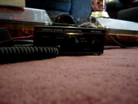 Federal Signal Corporation PA 300 Low Tone siren.wmv