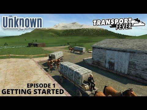 Getting Started : Transport Fever - Large Map - Medium Level - Mods - #01