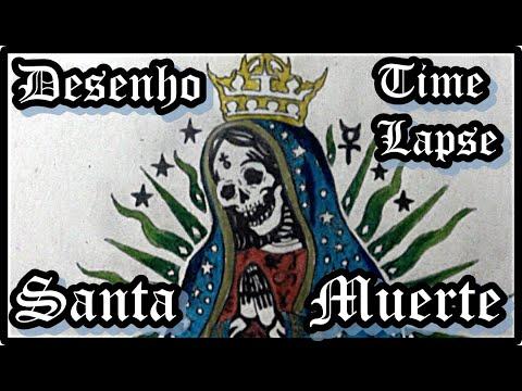 La Santa Muerte Time Lapse Draw 003 Youtube