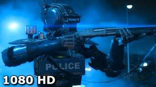 Все полицейские роботы внезапно начали отключаться | Робот по имени Чаппи (2015)
