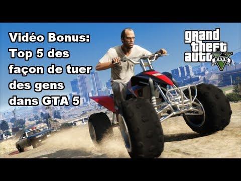 Vidéo Bonus:Top 5 des façon de tuer des gens dans GTA 5