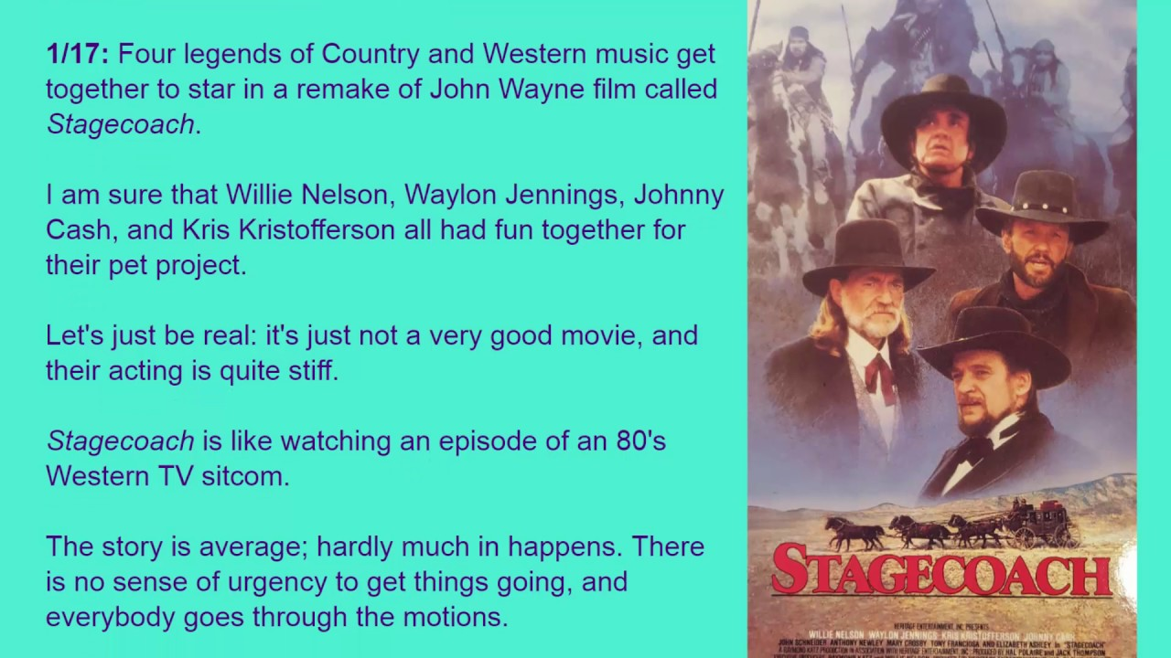 stagecoach movie critique The hateful eight movie reviews & metacritic score: six or eight or twelve years after the civil war, a stagecoach hurtles through the wintry wyoming landsca.